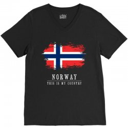 This is my country - Norway V-Neck Tee | Artistshot