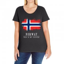 This is my country - Norway Ladies Curvy T-Shirt | Artistshot