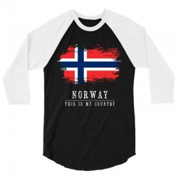 This is my country - Norway 3/4 Sleeve Shirt | Artistshot