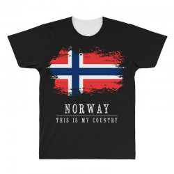 This is my country - Norway All Over Men's T-shirt | Artistshot