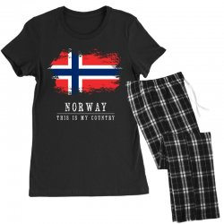This is my country - Norway Women's Pajamas Set | Artistshot