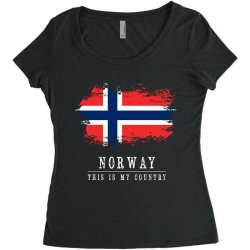 This is my country - Norway Women's Triblend Scoop T-shirt | Artistshot