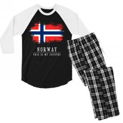 This is my country - Norway Men's 3/4 Sleeve Pajama Set | Artistshot