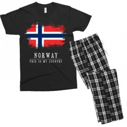 This is my country - Norway Men's T-shirt Pajama Set | Artistshot