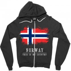 This is my country - Norway Zipper Hoodie | Artistshot