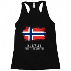 This is my country - Norway Racerback Tank | Artistshot