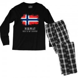This is my country - Norway Men's Long Sleeve Pajama Set | Artistshot