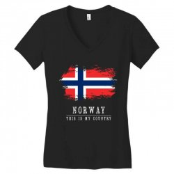 This is my country - Norway Women's V-Neck T-Shirt | Artistshot