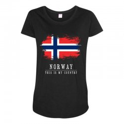 This is my country - Norway Maternity Scoop Neck T-shirt | Artistshot