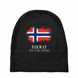 This is my country - Norway Baby Beanies | Artistshot