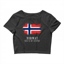 This is my country - Norway Crop Top | Artistshot