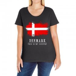 This is my country - Denmark Ladies Curvy T-Shirt | Artistshot