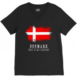 This is my country - Denmark V-Neck Tee | Artistshot