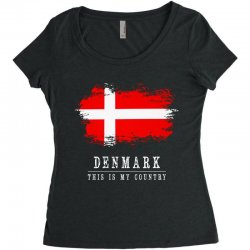 This is my country - Denmark Women's Triblend Scoop T-shirt | Artistshot