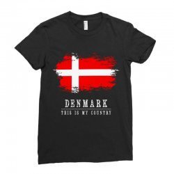 This is my country - Denmark Ladies Fitted T-Shirt | Artistshot