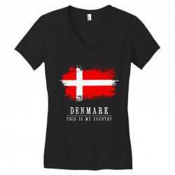 This is my country - Denmark Women's V-Neck T-Shirt | Artistshot