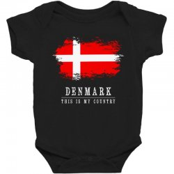 This is my country - Denmark Baby Bodysuit | Artistshot