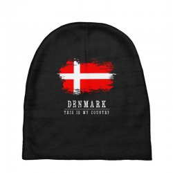 This is my country - Denmark Baby Beanies | Artistshot