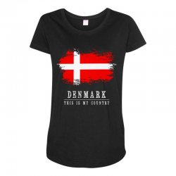 This is my country - Denmark Maternity Scoop Neck T-shirt | Artistshot