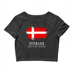 This is my country - Denmark Crop Top | Artistshot
