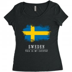 This is my country - Sweden Women's Triblend Scoop T-shirt | Artistshot
