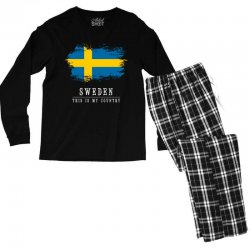 This is my country - Sweden Men's Long Sleeve Pajama Set | Artistshot