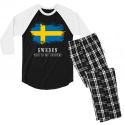 This is my country - Sweden Men's 3/4 Sleeve Pajama Set | Artistshot