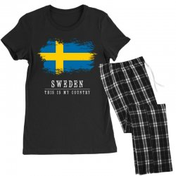 This is my country - Sweden Women's Pajamas Set | Artistshot