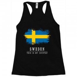 This is my country - Sweden Racerback Tank | Artistshot