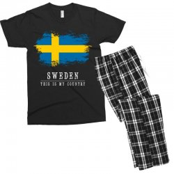 This is my country - Sweden Men's T-shirt Pajama Set | Artistshot