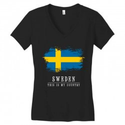 This is my country - Sweden Women's V-Neck T-Shirt | Artistshot