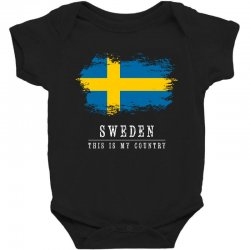 This is my country - Sweden Baby Bodysuit | Artistshot