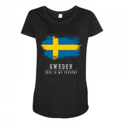This is my country - Sweden Maternity Scoop Neck T-shirt | Artistshot