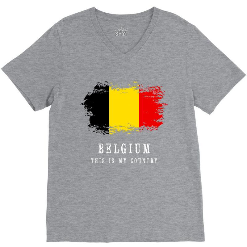 This Is My Country - Belgium V-neck Tee | Artistshot