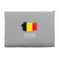 This is my country - Belgium Accessory Pouches | Artistshot