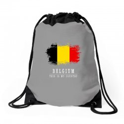 This is my country - Belgium Drawstring Bags | Artistshot
