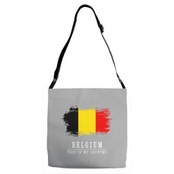 This is my country - Belgium Adjustable Strap Totes | Artistshot