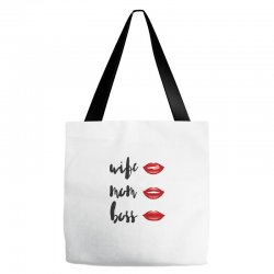 Wife, mom, boss Tote Bags | Artistshot