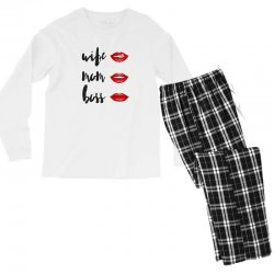 Wife, mom, boss Men's Long Sleeve Pajama Set | Artistshot