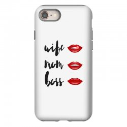 Wife, mom, boss iPhone 8 Case | Artistshot