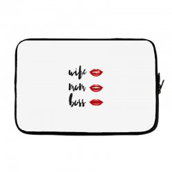 Wife, mom, boss Laptop sleeve | Artistshot