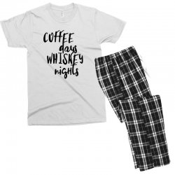 Coffee days, whiskey nights Men's T-shirt Pajama Set | Artistshot
