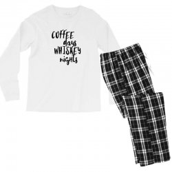Coffee days, whiskey nights Men's Long Sleeve Pajama Set | Artistshot