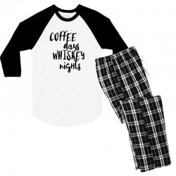 Coffee days, whiskey nights Men's 3/4 Sleeve Pajama Set | Artistshot