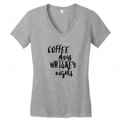 Coffee days, whiskey nights Women's V-Neck T-Shirt | Artistshot