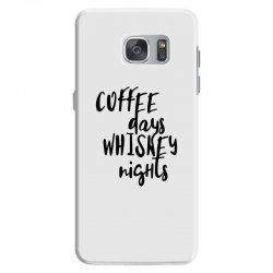 Coffee days, whiskey nights Samsung Galaxy S7 Case | Artistshot