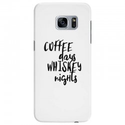 Coffee days, whiskey nights Samsung Galaxy S7 Edge Case | Artistshot