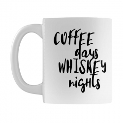 Coffee days, whiskey nights Mug | Artistshot