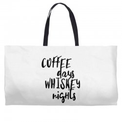Coffee days, whiskey nights Weekender Totes | Artistshot