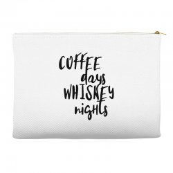 Coffee days, whiskey nights Accessory Pouches | Artistshot